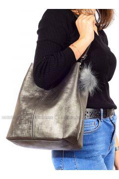 Gray - Shoulder Bags - Vip Moda(110339365)