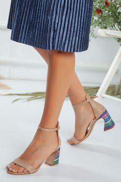 Favi Kadın Bej Renkli Topuklu Bej Ayakkabı(120455874)