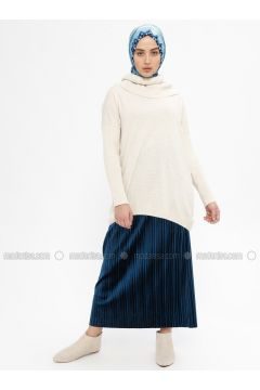 Petrol - Unlined - Skirt - Ginezza(110332078)