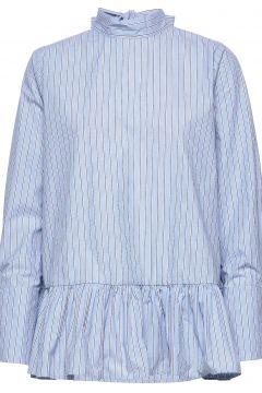 Aldina Shirt Langärmliges Hemd Blau BY MALINA(114157727)
