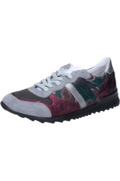 Chaussures Date sneakers gris cuir textile AB576(115395371)