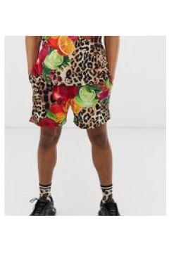 Milk It - Vintage-Shorts mit Früchte- und Leopardenmuster(95029351)