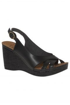 Easy Street Siyah Dolgu Topuklu Ayakkabı(110947334)