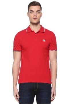 Moncler Erkek Kırmızı Polo Yaka T-shirt XL EU(108010426)