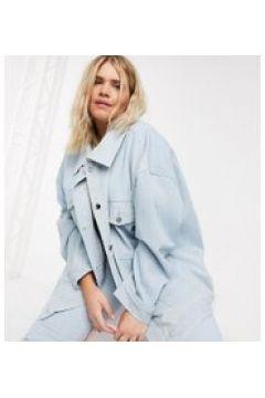 Daisy Street Plus - Giacca oversize di jeans lavaggio chiaro in coordinato-Blu(120390072)