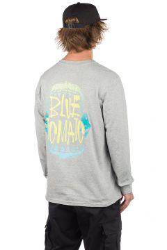 Blue Tomato Munch Long Sleeve T-Shirt grijs(90500667)