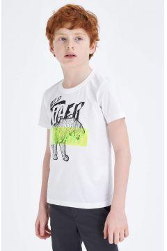DeFacto Erkek Çocuk Baskılı Kısa Kollu T-shirt(119060204)