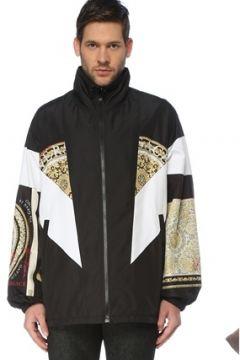 Versace Erkek Oversize Siyah Dik Yaka Desenli Mont 46 IT(126848078)