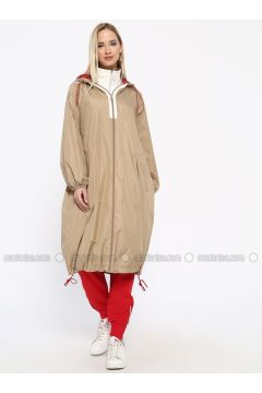 Beige - Fully Lined - Trench Coat - Missemramiss(110330923)