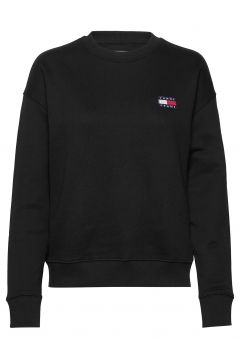 Tjw Tommy Badge Crew Sweat-shirt Pullover Schwarz TOMMY JEANS(116719398)