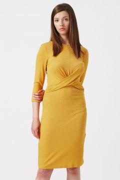 Koton Bel Detaylı Hardal Elbise(113981716)