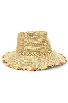Eric Javits Kadın Bej Püskül Detaylı Hasır Dokulu Şapka EU(114438746)