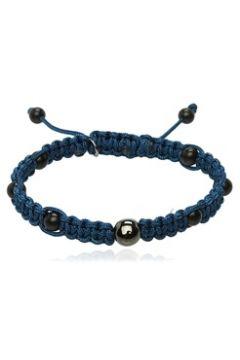 Thompson Erkek Lacivert Boncuk Detaylı Bilezik Mavi EU(118059663)