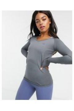 Dare 2b - Allegiant - T-Shirt a maniche lunghe senza cuciture grigia-Grigio(122557313)