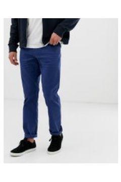 Esprit - Gerade geschnittene 5-Pocket-Hose aus Twill in Blau - Blau(83131471)
