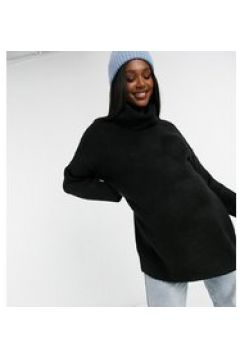 Topshop Maternity - Maglione oversize con collo alto di colore nero(124783760)