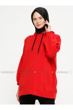 Red - Cotton - Tracksuit Top - Marwella(110332564)