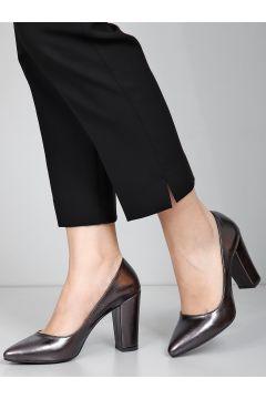 G.Ö.N Platin Kadın Klasik Topuklu Ayakkabı Ddza73740200(110942868)