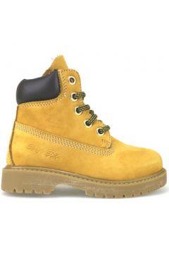 Boots enfant Didiblu bottines jaune cuir suédé brun foncé AJ956(115392801)