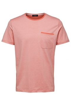 SELECTED Regular Fit Rundringad - T-shirt Man Orange(114189719)