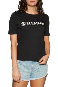 T-Shirt à Manche Courte Femme Element Logo CR - Black(111324031)
