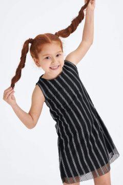 DeFacto Kız Çocuk Renk Bloklu Fiyonk Detaylı Elbise(119064768)