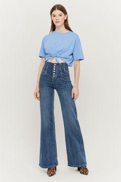 Extra Wide Leg Jeans mit Knöpfen(111106302)