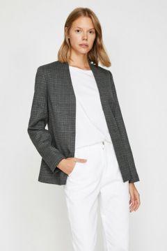 Koton Kadın Kareli Ceket(118214145)