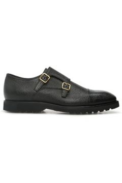 Tom Ford Erkek Kensington Siyah Çift Kemerli Deri Ayakkabı 0 UK(122725927)
