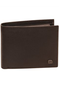 REELL Button Leather Wallet bruin(97387994)