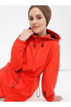 Red - Fully Lined - Trench Coat - FD SPORTS(110315352)