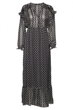 Sheer Feminine Maxi Dress With Allover Print Kleid Knielang Bunt/gemustert SCOTCH & SODA(114165086)