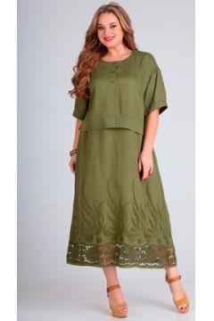 Платье Andrea Style 00255 хаки(115247411)