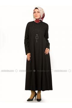 Black - Crew neck - Unlined - Dresses - NAKŞİN(110339537)