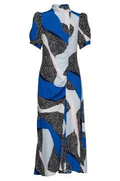 Glowiegz Dress Ze2 20 Kleid Knielang Blau GESTUZ(116367185)