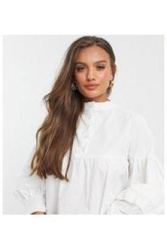 Fashion Union Petite - Vestito grembiule con maniche con laccetti-Bianco(120615205)