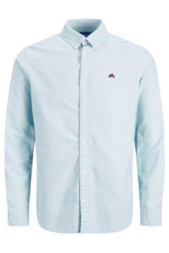 JACK & JONES Oxford Logotypprydd Skjorta Man Blå(112240290)