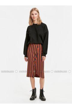 Navy Blue - Stripe - Skirt - LC WAIKIKI(110332108)