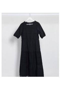 New Look Tall - Vestito a balze nero in pizzo con gonna al polpaccio(120330030)