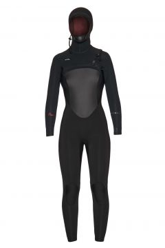 Combinaison de Surf Femme Xcel Infiniti 6/5mm Hooded - Black(111320532)