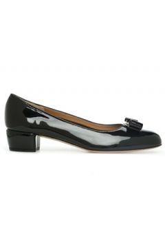 Salvatore Ferragamo Kadın Siyah Fiyonk Detaylı Deri Topuklu Ayakkabı 36 EU(121159718)