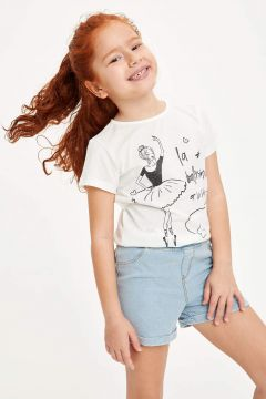 DeFacto Kız Çocuk Baskılı Kısa Kollu Body(119059632)