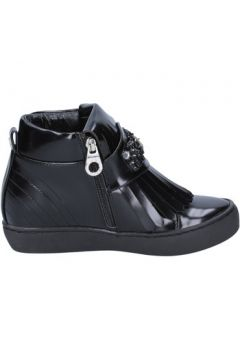 Chaussures Sara Lopez sneakers noir cuir BX705(115442624)