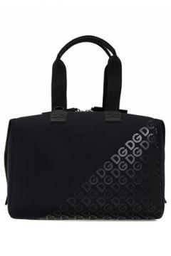 Dolce&Gabbana Erkek Siyah Logo Baskılı Seyahat Çantası Mavi EU(108010552)