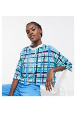 ASOS MADE IN KENYA - T-shirt corta in jersey a quadri-Verde(120857793)