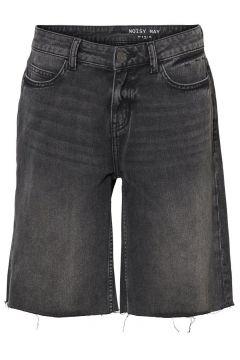 NOISY MAY Normal Waist Jeansshorts Damen Schwarz(115805135)