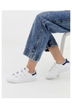 adidas Originals - Stan Smith CF - Sneaker in Weiß und Marineblau - Weiß(93655875)