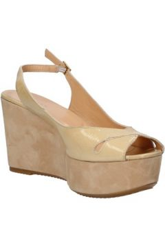 Sandales Berberg sandales beige cuir verni daim AF803(115393412)