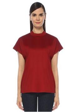 Outpost Kadın Kırmızı Dik Yaka Kısa Kol T-shirt S(118330074)