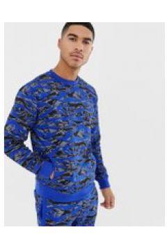 Soul Star - Kombiteil - Bedrucktes Sweatshirt mit Rundhalsausschnitt - Blau(89512222)